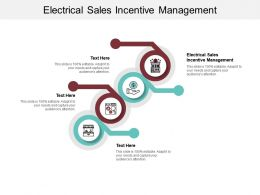 Electrical Sales Incentive Management Ppt Powerpoint Presentation Portfolio Ideas Cpb