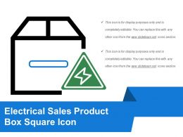 Electrical Sales Product Box Square Icon