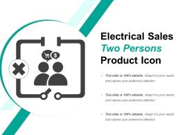 Electrical Sales Two Persons Product Icon