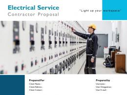 Electrical Service Contractor Proposal Powerpoint Presentation Slides