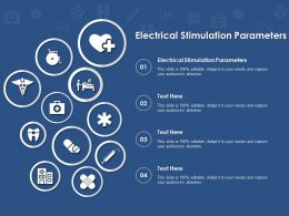 Electrical Stimulation Parameters Ppt Powerpoint Presentation Styles Template