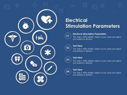 Electrical Stimulation Parameters Ppt Powerpoint Presentation Summary Graphics