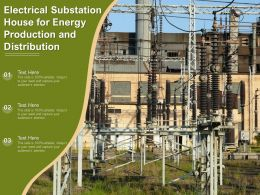 Electrical Substation House For Energy Production And Distribution