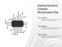 Electrical Symbol Of Computer Microprocessor Chip