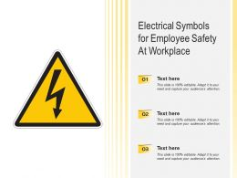 Electrical Symbols For Employee Safety At Workplace