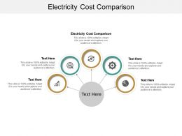 Electricity Cost Comparison Ppt Powerpoint Presentation Slides Outfit Cpb