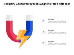 Electricity Generated Through Magnetic Force Field Icon