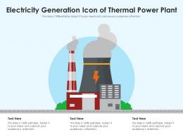 Electricity Generation Icon Of Thermal Power Plant