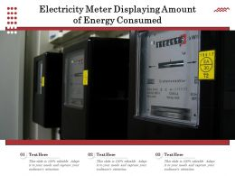 Electricity Meter Displaying Amount Of Energy Consumed