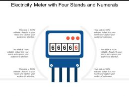 Electricity Meter With Four Stands And Numerals
