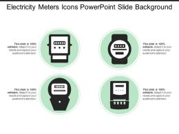 Electricity Meters Icons Powerpoint Slide Background