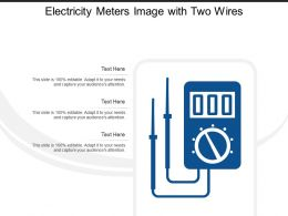Electricity Meters Image With Two Wires