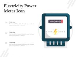 Electricity Power Meter Icon