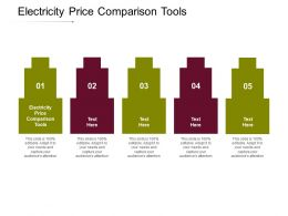 Electricity Price Comparison Tools Ppt Powerpoint Presentation Summary Cpb