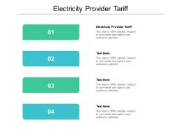 Electricity Provider Tariff Ppt Powerpoint Presentation Professional Graphic Tips Cpb