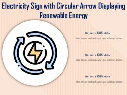 Electricity Sign With Circular Arrow Displaying Renewable Energy