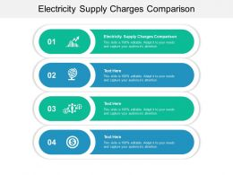 Electricity Supply Charges Comparison Ppt Powerpoint Presentation Ideas Icons Cpb