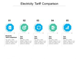 Electricity Tariff Comparison Ppt Powerpoint Presentation Portfolio Professional Cpb