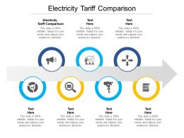 Electricity Tariff Comparison Ppt Powerpoint Presentation Styles Brochure Cpb