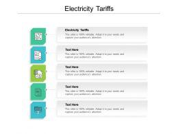 Electricity Tariffs Ppt Powerpoint Presentation Portfolio Templates Cpb