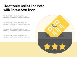 Electronic Ballot For Vote With Three Star Icon