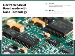 Electronic Circuit Board Made With Nano Technology