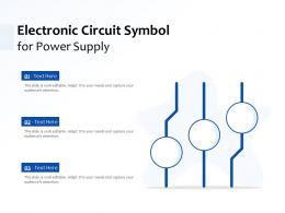 Electronic Circuit Symbol For Power Supply