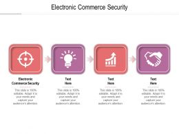 Electronic Commerce Security Ppt Powerpoint Presentation Summary Demonstration Cpb