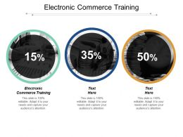 Electronic Commerce Training Ppt Powerpoint Presentation Icon Graphic Images Cpb