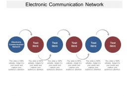 Electronic Communication Network Ppt Powerpoint Presentation Model Smartart Cpb