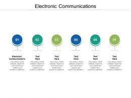 Electronic Communications Ppt Powerpoint Presentation Infographic Cpb