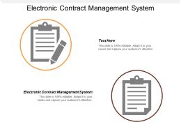Electronic Contract Management System Ppt Powerpoint Presentation Portfolio Icon Cpb