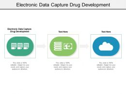 Electronic Data Capture Drug Development Ppt Powerpoint Presentation File Background Image Cpb