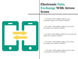 Electronic Data Exchange With Arrow Icons