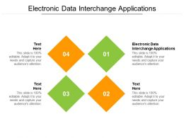 Electronic Data Interchange Applications Ppt Powerpoint Presentation Infographics Cpb
