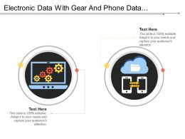 Electronic Data With Gear And Phone Data Exchange