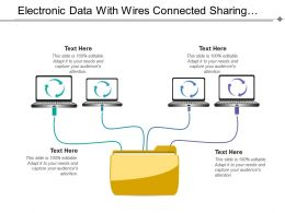 Electronic Data With Wires Connected Sharing Files