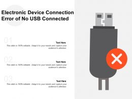 Electronic Device Connection Error Of No Usb Connected