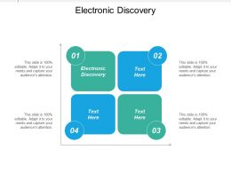 Electronic Discovery Ppt Powerpoint Presentation Icon Graphics Design Cpb