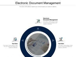 Electronic Document Management Ppt Powerpoint Presentation Icon Elements Cpb