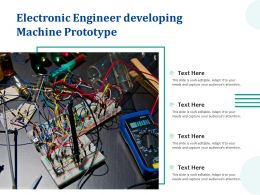 Electronic Engineer Developing Machine Prototype