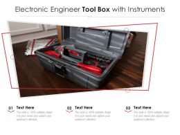 Electronic Engineer Tool Box With Instruments