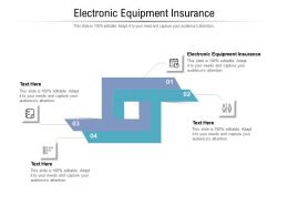 Electronic Equipment Insurance Ppt Powerpoint Presentation Summary Files Cpb