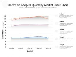 Electronic Gadgets Quarterly Market Share Chart