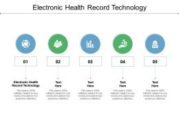 Electronic Health Record Technology Ppt Powerpoint Presentation File Format Cpb
