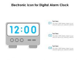 Electronic Icon For Digital Alarm Clock