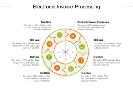 Electronic Invoice Processing Ppt Powerpoint Presentation Gallery Show Cpb