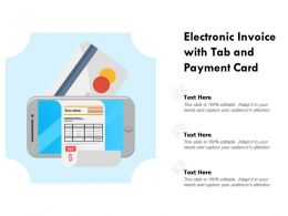 Electronic Invoice With Tab And Payment Card