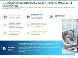 Electronic Manufacturing Company Business Details And Labor Count Shortage Of Skilled Labor Ppt Icon