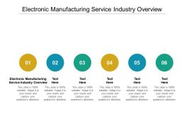 Electronic Manufacturing Service Industry Overview Ppt Powerpoint Presentation Infographics Skills Cpb